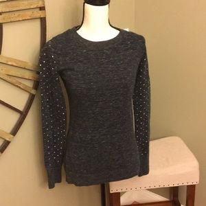 Express sequined sleeve sweater